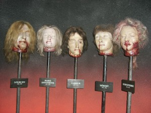 heads on sticks